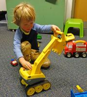 photo of a toy digger you can borrow