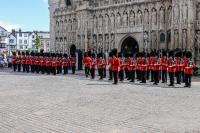 Coldstream Guards Association - Exeter & Devon Branch outside Exeter Cathedral