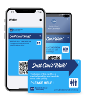 Just Can't Wait Toilet Card