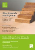 Online Steps to Employment course flyer