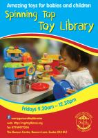 Information flyer for the toy library
