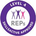 REPS Skills Active Approved Level 4 Badge logo