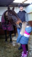 With my horse