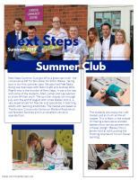 Next Steps Summer Club