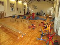 We have a large hall for physical play.