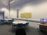 Our activities space used for arts and crafts, painting, gardening and our computers resource section