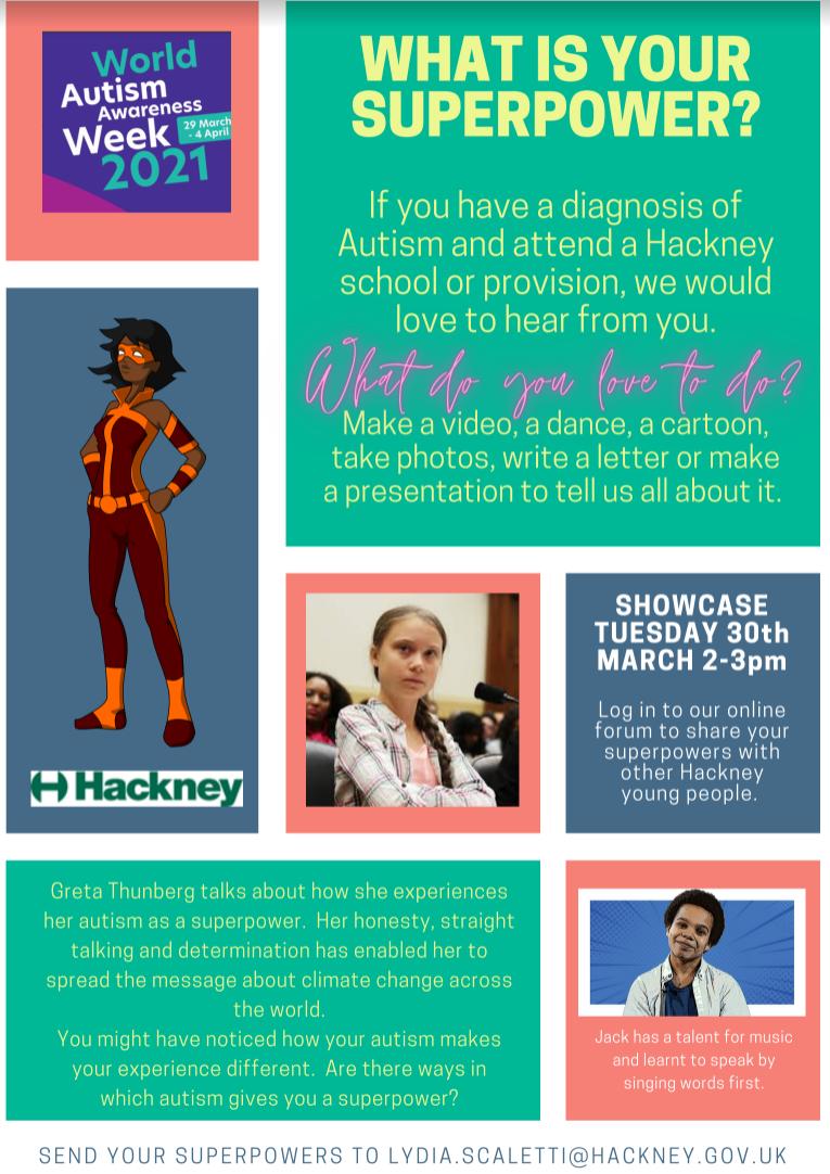 SuperPowers Autism Awareness2021 flyer