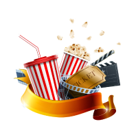 Cinema, popcorn and drink picture