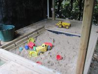Covered sand pit