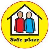 Safe place sticker