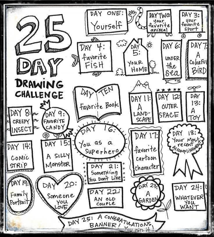 25 day drawing challenge
