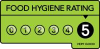 We have a 5 star food hygiene rating