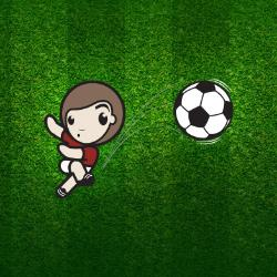 Child and football graphic