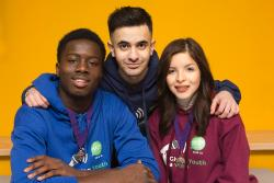 Islington young mayor, young deputy mayor and member of the Youth Parliamant