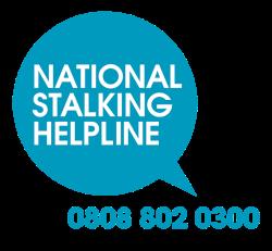 National Stalking Helpline Logo and Number