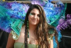Girl with carnival outfit