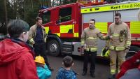 a visit from the local firefighters