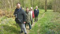 Eco Shed assessing accessibility of Kent Wildlife Trust's Cromers Wood site in Sittingbourne