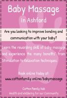 Offline Ad for baby massage ashford