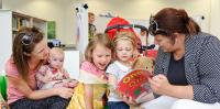 Mums and children enjoying Storytime