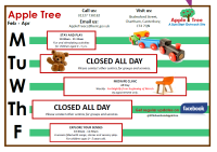 Apple Tree Timetable Feb - Apr 2019