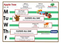 Apple Tree Timetable Jun - Jul 2019