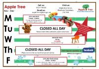 Apple Tree Timetable Nov - Dec 2019