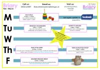 Briary Timetable Feb - Mar 2020