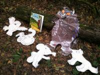 Exploring the Gruffalo story in the woods