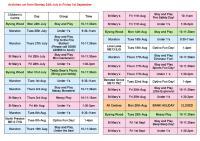 Faversham & Murston Children's Centres Timetable 24th July - 1st September.