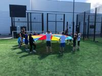 Holiday camp parachute
