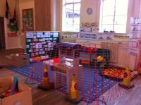Inside the main hall, one of our role play areas.