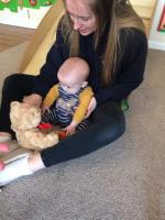 strong bond between key worker and baby