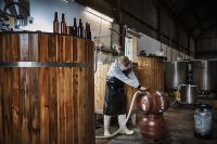 Connor working at the brewery in Faversham