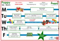 Poppy Timetable Feb - Mar 2020