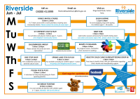 Riverside Timetable Jun - Jul 2019