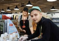 Lenny working at Asda Cafe