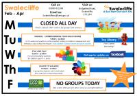 Swalecliffe Timetable Feb - Apr 2019