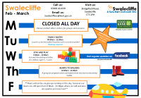 Swalecliffe Timetable Feb - Mar 2020