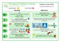Woodgrove Children's Centre Timetable Jan-April 2018