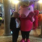 Councilor Barbara Murray and Pepper pig.
