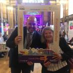 Steve Reddy Director of children's services and Councillor r  Barbara Murray at the local offer live.