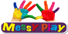 Messy play sign