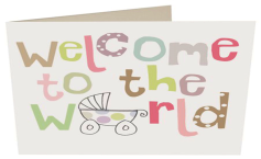 Welcome to the world logo