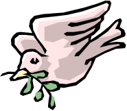 Dovecot primary school logo: A dove with a twig.