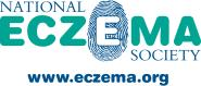 National Eczema Society logo with website link, eczema.org