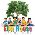 Elm House Day Nursery Gateacre Logo. 6 children sitting under an elm tree.