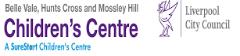 Hunts Cross, Belle Vale, Mossley Hill Childrens Centre Logo