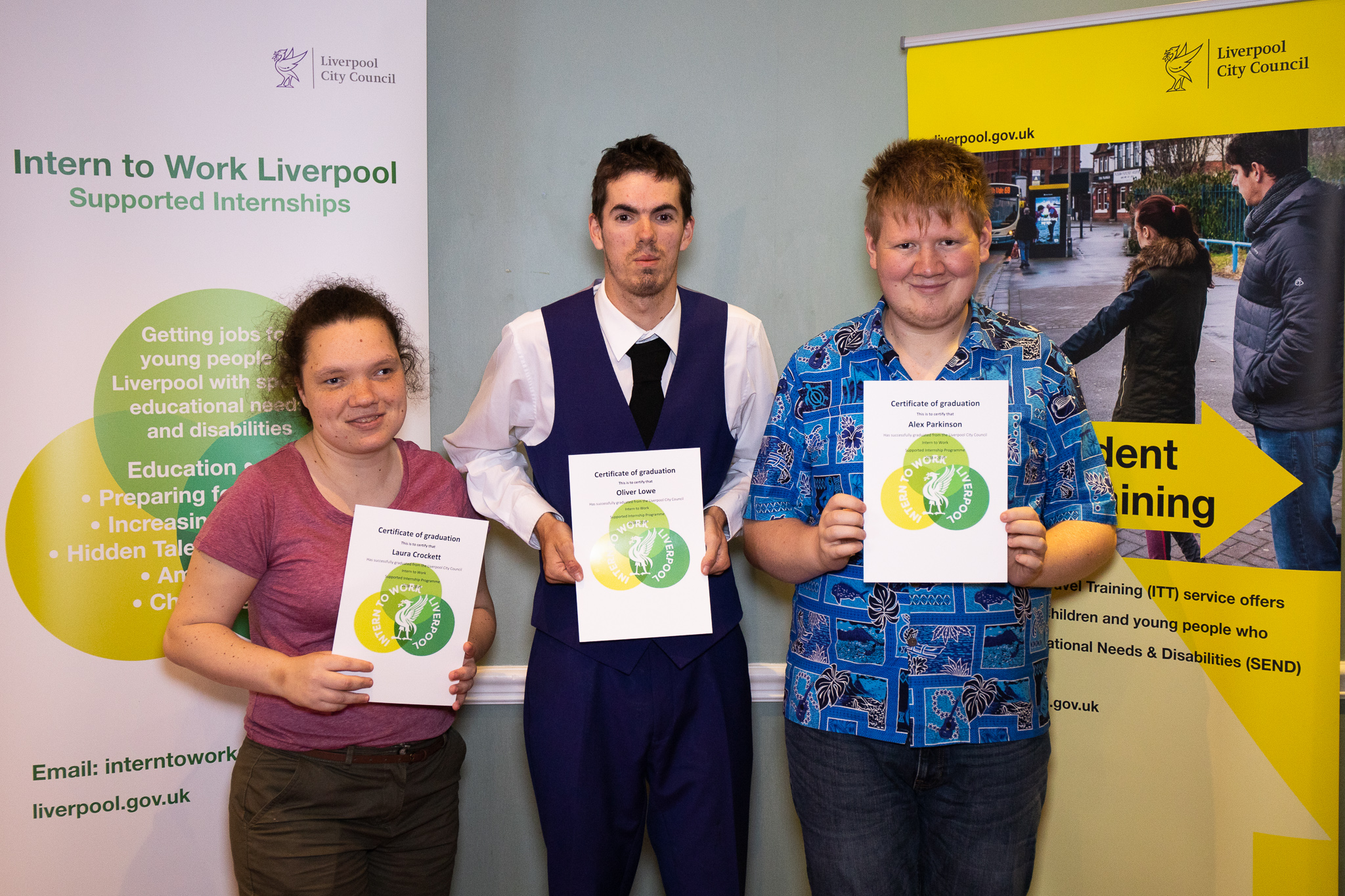 Laura, Oliver and Alex, supported interns from Myerscough College based at Croxteth Hall and Walton Hall Gardens.