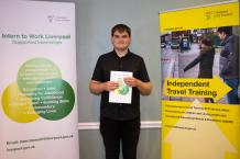 Jack, supported intern from Myerscough College based at Bootle Aquatics.